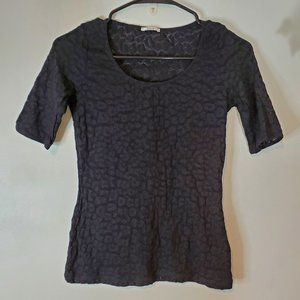 WOLFORD Black See through lace top SZ XS